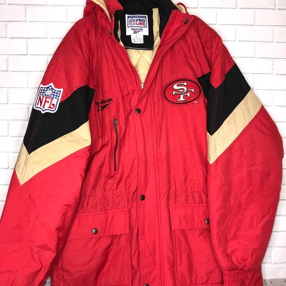 new products 07163 8827f San Francisco 49ers Coat Jacket vintage Reebok